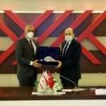 KKTC Milli Eğitim ve Kültür Bakanı Amcaoğlu'ndan YÖK Başkan'ı Saraç'a ziyaret