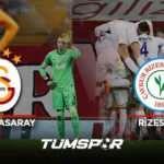 Galatasaray Rizespor maçı geniş özeti ve golleri (BeIN Sports) | Aslan evinde kayıp!