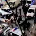 Aksiyon filmlerini aratmadı! Polis otosuna çarptı metrelerce havaya uçtu