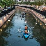 Bangkok'un tarihi su yolu kirlilikten kurtarıldı, ziyaretçilerin ilgi odağı oldu