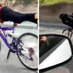 Bisikletli gençlerin tehlikeli yolculuğu