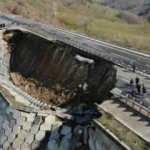 Karadeniz'e bağlanan otoyol çöktü
