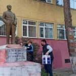 Tekirdağ'da Atatürk heykeline provokatif saldırı