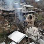 Artvin'de yangının boyutu gün ağarınca ortaya çıktı