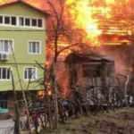 Dereiçi köyünde yangının çıktığı ilk anlar kamerada!