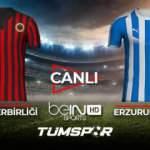 Gençlerbirliği Erzurumspor maçı  canlı izle! BeIN Sports Gençler Erzurum maçı canlı skor takip