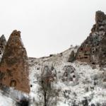 Kapadokya'ya öyle yakışır ki kar