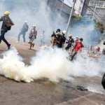 Myanmar'da darbe karşıtı göstericilere şiddet