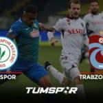Rizespor Trabzonspor maçı geniş özeti ve golleri! (BeIN Sports) Karadeniz'de kazanan yok!