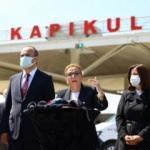 Bakan Pekcan Kapıkule'de basın toplantısı düzenledi