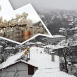 Bolu'da kış ve ilkbahar bir arada yaşanıyor