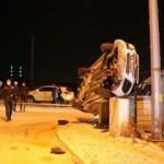 Hafif ticari araç, bahçe duvarına çarptı: 1 ölü, 1 yaralı