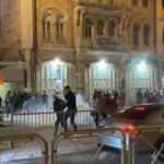 İşgalci İsrail, Filistinlilere teravih sonrası ses bombası attı