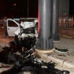 Otomobil köprü ayağına çarptı: 1 ağır yaralı