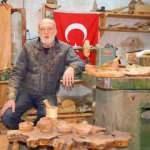 Bursa'da emekli öğretmen ahşap sanatıyla siparişlere yetişemiyor!