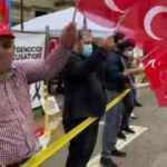 ABD'de Türk vatandaşlar sözde soykırım iddialarını protesto etti