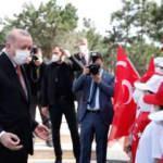 Türkiye'nin en büyük bayrağı! Erdoğan göndere çekti