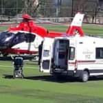 Kalp krizi geçiren hasta helikopterle hastaneye taşındı