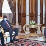 Libya Başkanlık Konseyi Başkanı Menfi, Afrika Birliği heyeti ile bir araya geldi