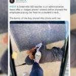 Siyahi öğrencinin üzerine basarak fotoğraf çeken öğretmen görevden uzaklaştırıldı