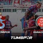 Trabzonspor Karagümrük maçı geniş özeti ve golleri (BeIN Sports) Fırtına evinde dolu dizgin!