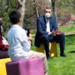 Ziya Öğretmen açık havada öğrencilerle buluştu