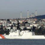 ABD sahil güvenlik gemisi 'USCGC Hamilton' İstanbul Boğazı'ndan geçti