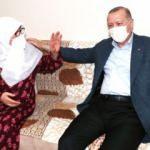 Türkiye onu konuşmuştu! Başkan Erdoğan, Mahruze Keleş'i evinde ziyaret etti