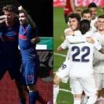 Atletico Madrid ve Real Madrid haftayı galibiyetle kapattı