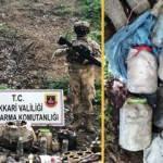 Hakkari'de PKK'nın inlerinde çok silah ve mühimmat ele geçirildi