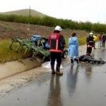 Kamyon ile traktör çarpıştı: 1 ölü