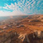 Kapadokya'da gökyüzünden nefes kesen görüntüler