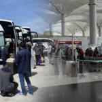 Otogar ve havalimanlarında 'tam kapanma' yoğunluğu