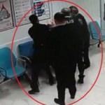 Sokakta darp edilen kişi hastanede polise saldırdı