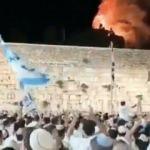 Aksa yangınında fanatik yahudiler şarkı söyledi