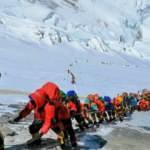 Çin, Kovid-19 girişini engellemek için Everest'in zirvesine sınır çizgisi çekecek