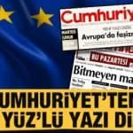Cumhuriyet'ten 'iki yüz'lü yazı dizisi