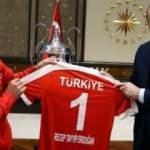 Erdoğan, Ampute Milli Futbol Takımı'na başarılar diledi!