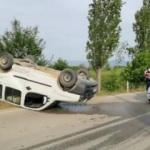 Otomobil ile hafif ticari araç çarpıştı: 3'ü çocuk 4 yaralı