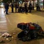 Feci kazada motosiklet parçalara ayrıldı!