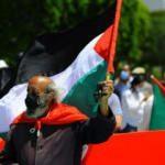 Tunus'ta halk Filistin'e destek için meydanlardaydı