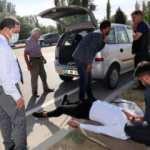 Amasya Valisi Masatlı, kazada yaralanan vatandaşın başından ayrılmadı