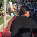 CHP'li belediye başkanı Alim Karaca'dan Türk Bayrağına büyük saygısızlık