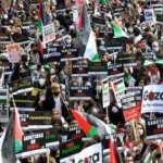Fransa'da binlerce kişiden Filistin için 'İsrail'e boykot' çağrısı yaptı