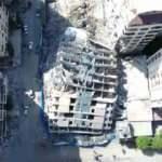 Google Haritalar gizlemişti. AA, terör devletinin büyük yıkımını havadan görüntüledi