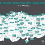 Karadeniz'de 2 ilde vakalar arttı, 16 ilde düştü