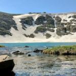Kış aylarında buz tutan dev göl çözüldü