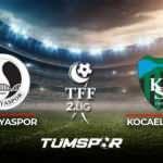 Kocaelispor Sakaryaspor maçı ne zaman saat kaçta hangi kanalda? İşte Kocaeli Sakarya maçı 11'leri!