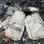 Küle dönen evde Kur'an-ı Kerim'in sayfaları yanmadı