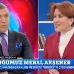 Meral Akşener'den canlı yayında tuhaf hareket